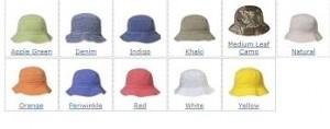 Bucket caps for Kids
