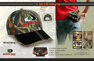 Mossy oak Fold-A-Bill folding cap image