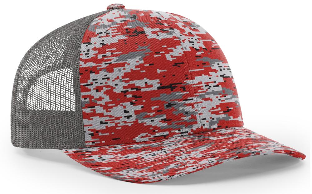 Richardson Trucker Digital Camo Pattern Twill Mesh image