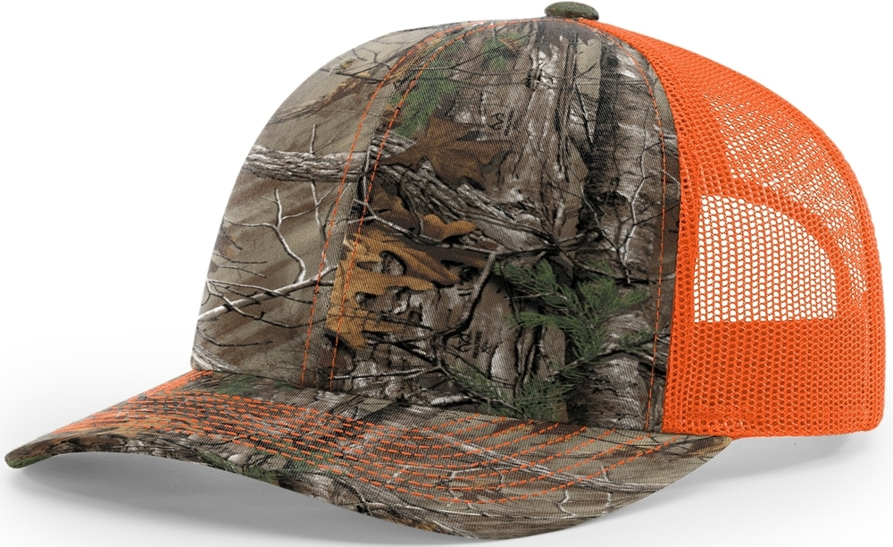 Richardson Trucker Camo Pattern Twill Trucker Mesh image