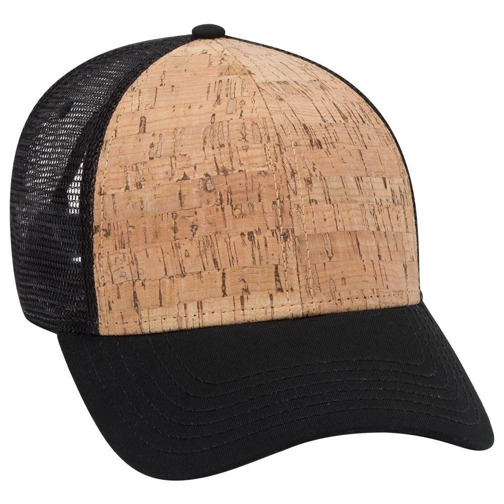 5 Panel hat Cork Front Black mesh Trucker hat Snapback New