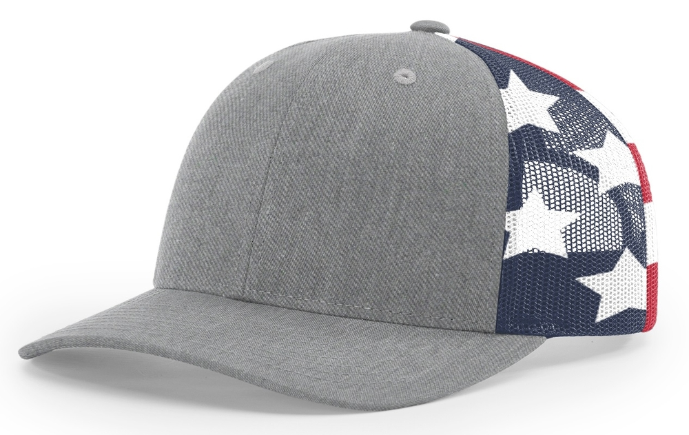 Richardson 6 Panel Trucker Printed Stars & Stripes Mesh Back image