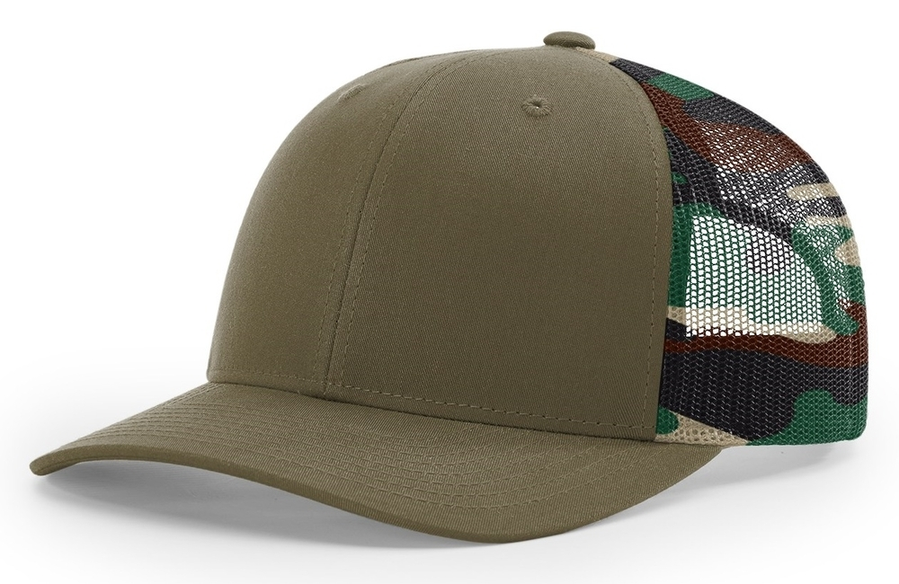 Richardson 6 Panel Trucker Printed Camo Mesh Back image
