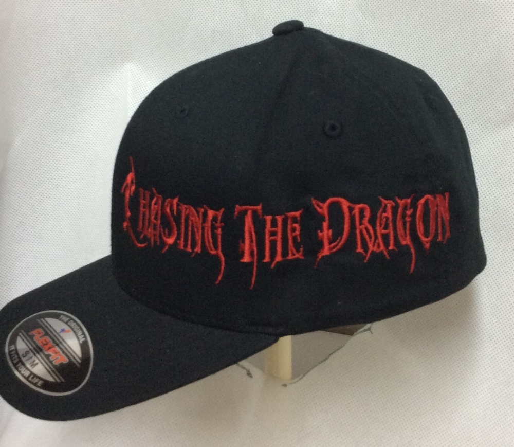 Embroidered Chasing The Dragon Flexfit image