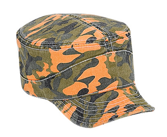 Otto Camouflage Garment Washed Cotton Twill Flexible Soft Visor Military Style Cap | Wholesale Blank Caps & Hats | CapWholesalers