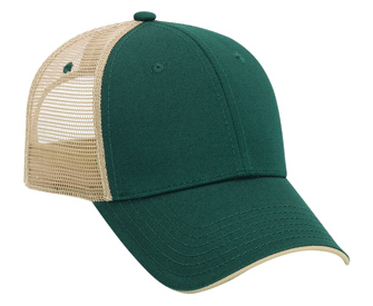 Otto Cotton Twill Colored Edge Visor Low Profile Pro Style Mesh Back Cap | Wholesale Blank Caps & Hats | CapWholesalers