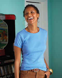 Blank Ladies Short Sleeve Tee   Anvil 6 oz Cotton 1x1 Rib Scoop-Neck Tee