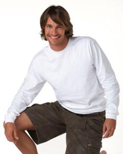 Hanes 6.1 oz Ringspun Long-Sleeve Beefy-T, Tagless | Customized  Mens Long Sleeve Tee