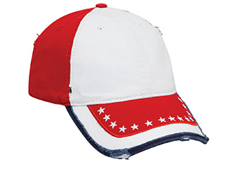 Otto-US Flag Pattern Washed Cotton Twill | Patriotic & Novelty Caps