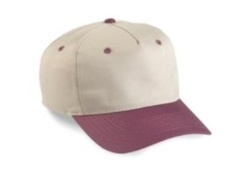 5-Panel Low Profile Two Tone Twill  | Wholesale Baseball Caps & Hats From Cap Wholesalers
