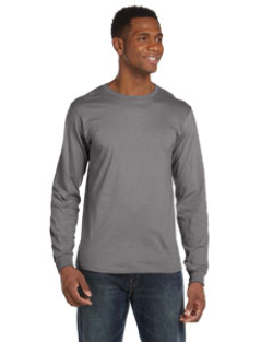 Anvil 4.5 oz Cotton Long-Sleeve Fashion-Fit Tee  | Customized  Mens Long Sleeve Tee