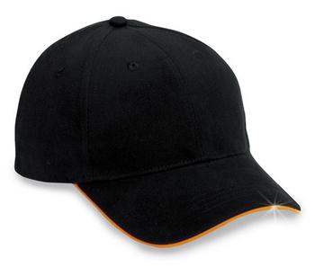 Cobra Caps: Wholesale 6-Panel Brushed Reflective Sandwich Bill Hat