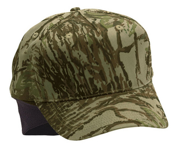 5 Panel Low Profile Camouflage With Ear Flaps | Wholesale Blank Caps & Hats | CapWholesalers