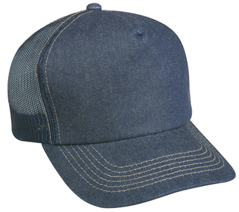 Outdoor Denim Front with Mesh Back | Wholesale Blank Caps & Hats | CapWholesalers