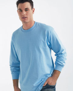 Gildan 6.1 oz Ultra Cotton Long-Sleeve Tee | Customized  Mens Long Sleeve Tee