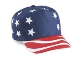 Cobra 5-Panel USA Flag Cap | Wholesale Blank Caps & Hats | CapWholesalers