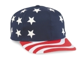 Cobra Caps: Wholesale 6-Panel USA Flag Cap. Wholesale Blank Caps & Hats