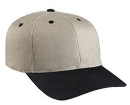 Cobra 6-Panel Mid Pro Style Khaki Crown Cap w/ Leather Strap At Wholesale Prices
