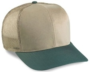 Cobra 6-Panel Mid Pro Style Twill Mesh Back Hat | Wholesale Blank Caps & Hats | CapWholesalers