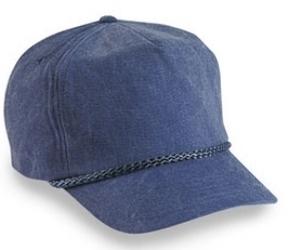 Cobra 5-Panel Stone Washed Canvas | Wholesale Blank Caps & Hats | CapWholesalers