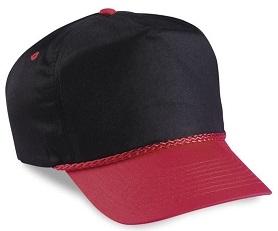 Cobra 5-Panel Two Tone Twill Golf Cap   Wholesale Blank Caps & Hats   CapWholesalers