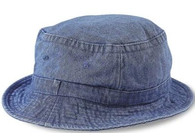 Cobra-Stone Washed Denim Bucket Hat 3f912d6824d