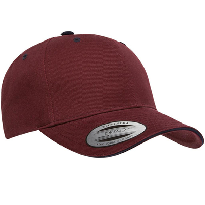 Yupoong-Brushed Cotton Twill Cap w/ Sandwich Visor | Wholesale Blank Caps & Hats | CapWholesalers