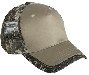 Cobra 5 Panel Camo Edge Visor Mesh Back Wholesale Camo Caps