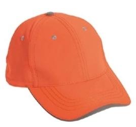 Cobra Caps: Wholesale Cobra Caps 6-Panel Safety Cap w/Reflective Sandwich Bill