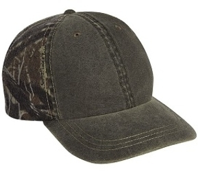 Cobra 6 Panel Weather-Washed Camouflage Cap | Wholesale Caps