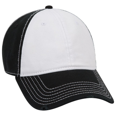 4c8c26c41db858 Otto-Garment Washed Cotton Twill Distressed Visor Low Profile Pro Style