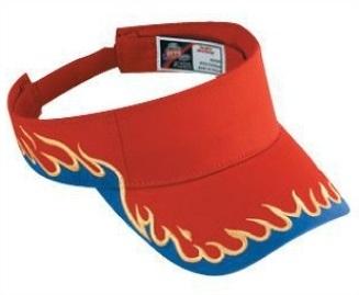 Otto-Flame Pattern Cotton Twill Sun Visors | Sun Visors  : Custom, Blank and Wholesale Caps