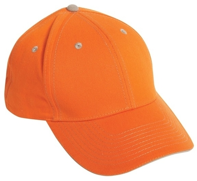 Cobra Caps: 6-Panel Brushed Cotton Sandwich Cap | Wholesale Blank Caps & Hats