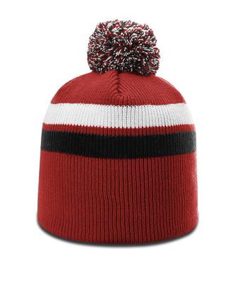 46a46440 Richardson Pom Pom Stripe Beanie | Knit Beanies : Custom, Blank and ...