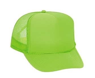Otto Neon Polyester Foam Front Golf Style Mesh Back Cap | Wholesale Blank Caps & Hats | CapWholesalers