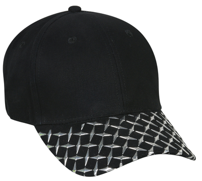 Outdoor Metallic Diamond Plate Brushed Twill | Themed & Decorated Caps
