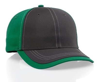 Richardson Hats: Wholesale 6-Panel Charcoal Color Block Cap | CapWholesalers
