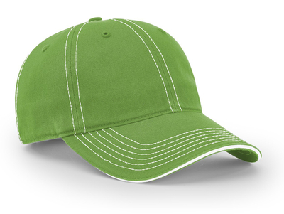 Richardson Hats: Garment Washed Contrast Stitching Cap   CapWholesalers