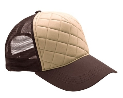Mega Fashion Quilted Trucker Cap | Wholesale Blank Caps & Hats | CapWholesalers