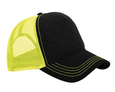 Mega Neon Fashion Quilted Trucker Cap | Wholesale Blank Caps & Hats | CapWholesalers
