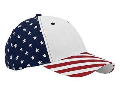 Mega Caps Wholesale | 6 Panel Cotton Twill USA Flag