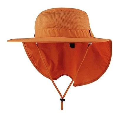 Mega-Juniper Taslon UV Large Bill Hat w/ Roll-Up Flap   Sport Performance Caps