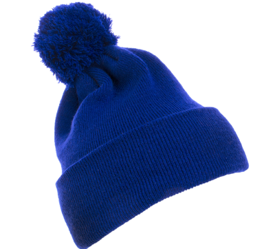 Yupoong Caps: Wholesale Pom Pom Beanie Cuffed Knit Hat   CapWholesalers.com