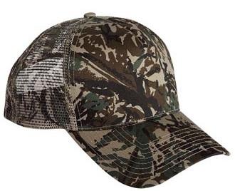 Cobra 5 Panel Twill | Mesh Back Camo | Wholesale Camo Caps