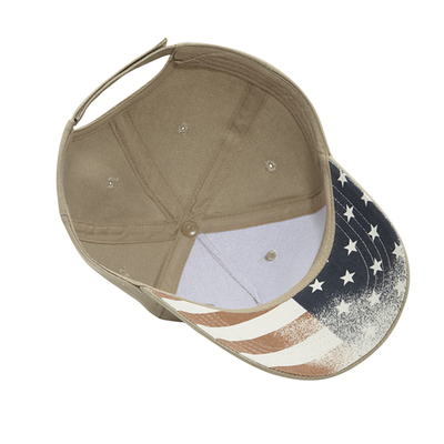 Cobra 5 Panel Brushed with USA under Bill copy | Golf Caps