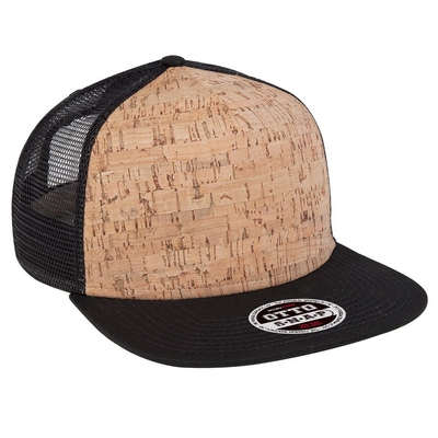 Otto Cork Square Flat Visor 5 Panel | Wholesale Blank Caps & Hats | CapWholesalers