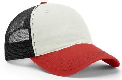 Richardson Hats: Tri-Color Garment Washed Snapback Trucker Hats | CapWholesalers