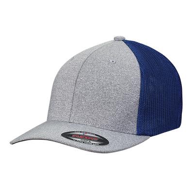 Custom Flexfit Hats: Melange Flexfit Trucker Hat - CapWholesalers.com