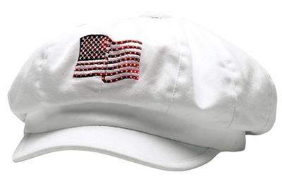 USA Flag Newsboy | Wholesale Blank Caps & Hats | CapWholesalers