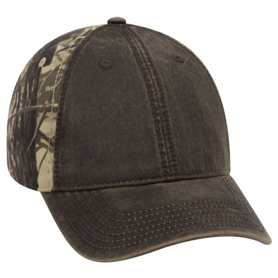 Camo Garment Washed Cotton Twill Heavy Washed Wax Coated Low Profile | Camouflage Caps : Camo Caps